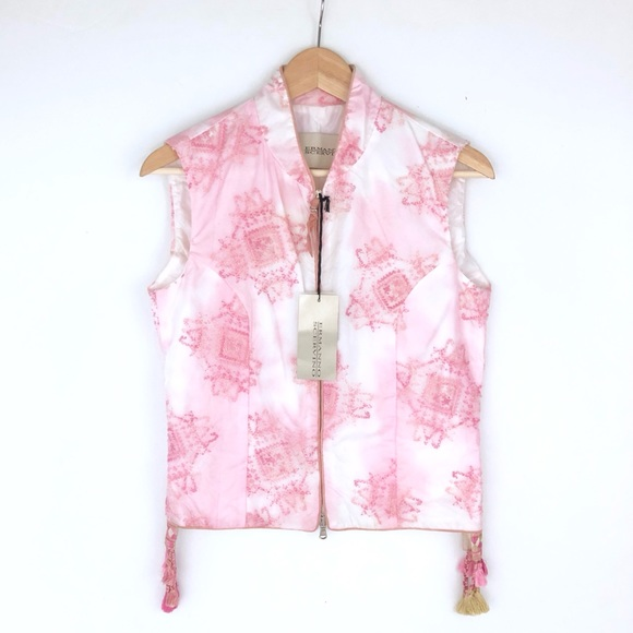 Ermanno Scervino Jackets & Blazers - NWT Ermanno Scervino pink embroidered vest 42/4-6